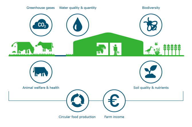 Dairy sustainability topics - Click on the image to enlarge