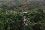 Cerro Ancon in Panama city and me checking our trees