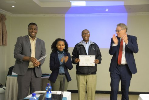 Ethiopian dairy advisors trained and graduated by WLR's DairyBISS project
