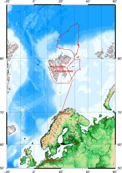 Route of Polarstern during SiPCA (by AWI)