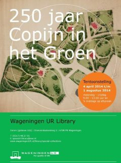 Copijn in het Groen, 4 april t/m 1 aug 2014