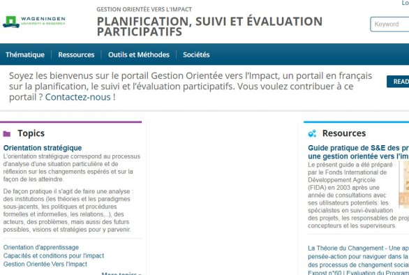 French portal of Management for Sustainable Development Impact