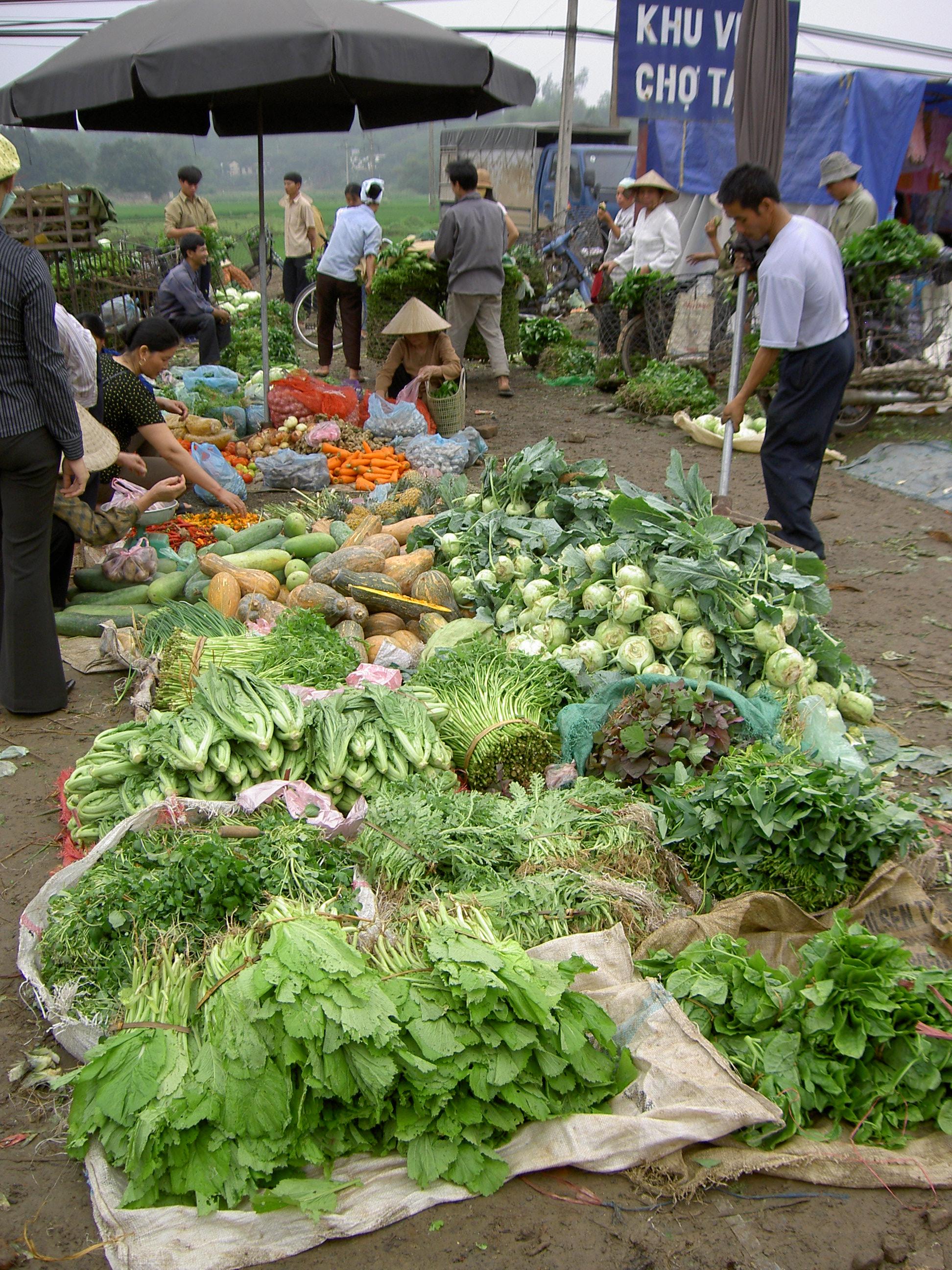 Groenteverkoop In Vietnam Vegetables