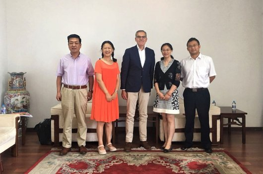 With Deputy Director of Department of International Cooperation CAAS, Beijing Aug 23rd 2018, photo by Fan Ruiying.