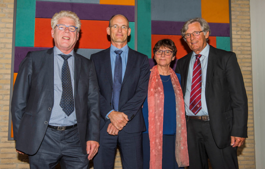 Prof. Zeeman together with, Prof. Huub Rijnaarts(left), Prof. Cees Buisman, and Emeritus Prof. Gatze Lettinga