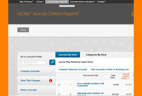 How can I find impact factors in Journal Citation Reports? - WUR