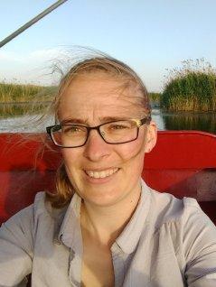 Janssen, navegando en el lago Baiyangdian, que se encuentra a 170 km por debajo de Beijing
