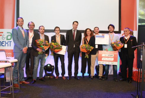 N-CHROMA and Phenospex winners startup competition F&A Next 2016 at Wageningen Campus