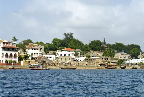 Lamu city on the island of Lamu in the Delta of Kenya