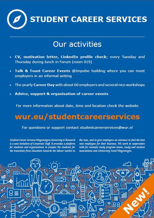 Student Career Services, activities