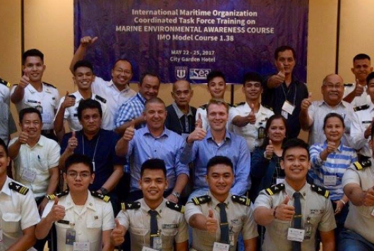 The Marine Environmental Awareness course we conducted in the Philippines.