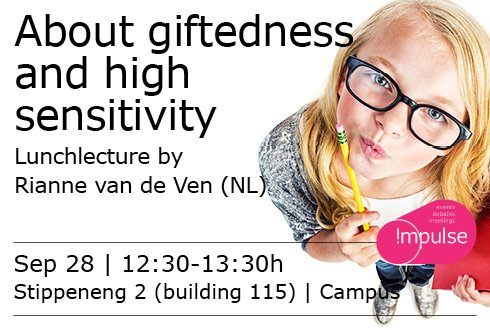 Lunchlezing: About giftedness and high sensitivity