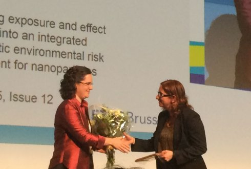 Rianne Jacobs receives SETAC Journals Best Paper Award