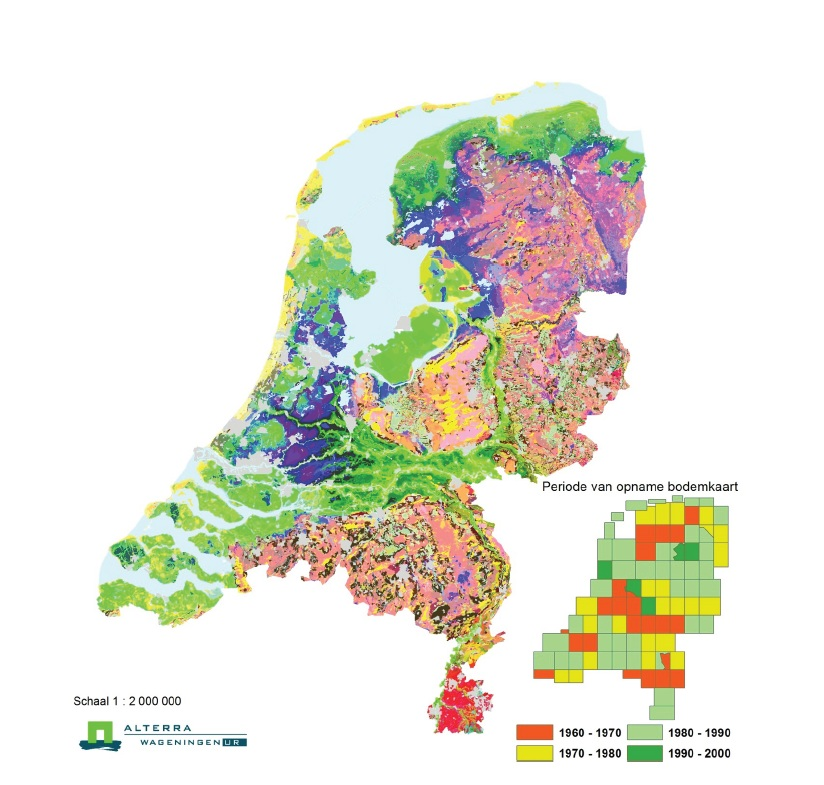 Image gallery netherlands landscape map for Physical properties of soil wikipedia
