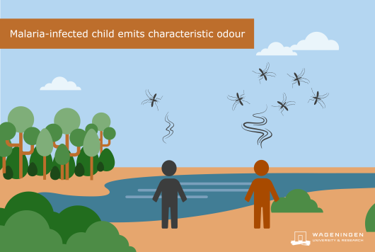 Infographic: Malaria-infected child emits characteristic odour.