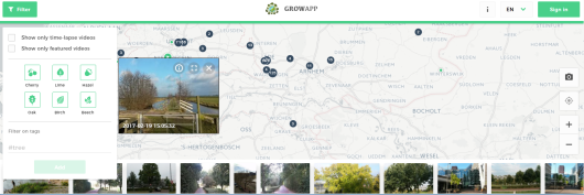 Screenshot website www.growapp.today
