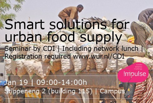 Smart solutions to secure urban food supply