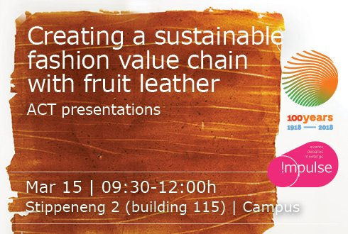 Creating a sustainable fashion chain with fruitleather