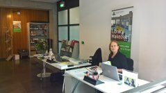 Temporary Lending Desk, Forum 1st Floor, open from Mon-Fri, 10 am-4pm