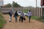On the road: the team in South Sudan