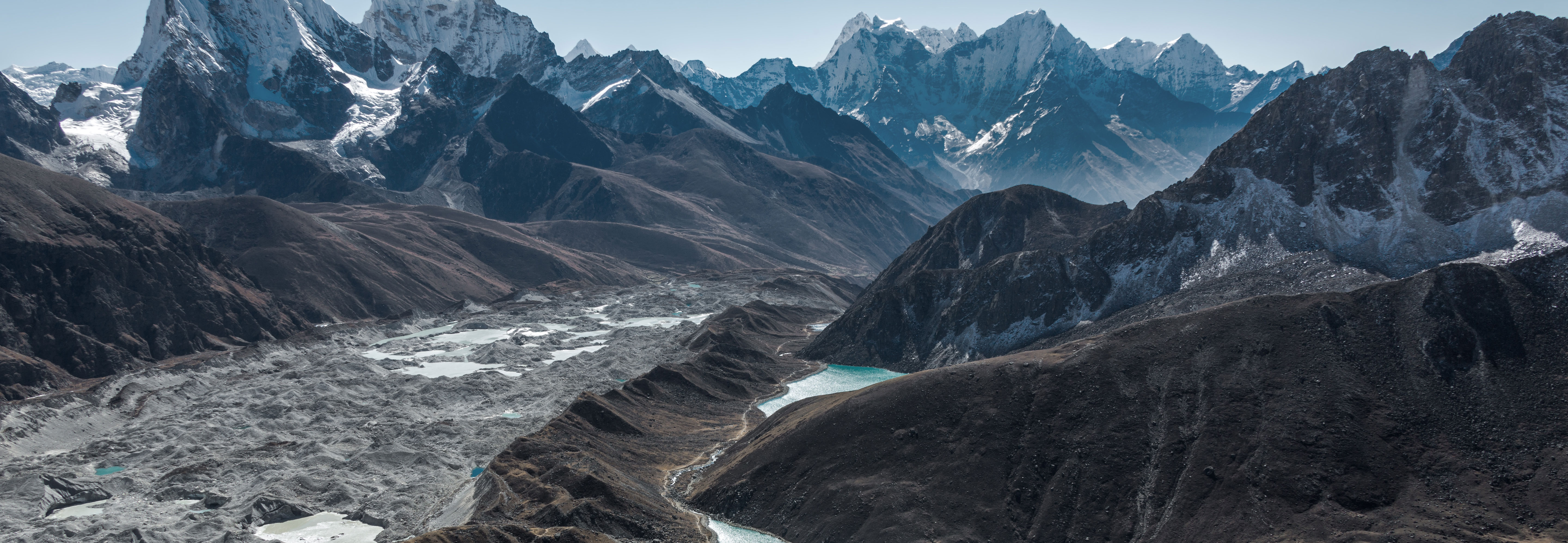 Glacier in the himalaya - climate change